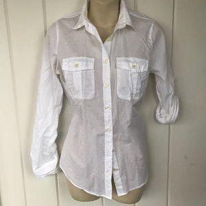 💙 J Crew White Shirt